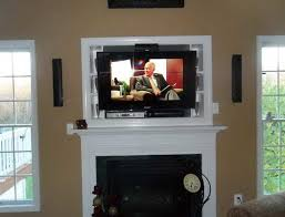 6195 tv wall mount above fireplace ideas