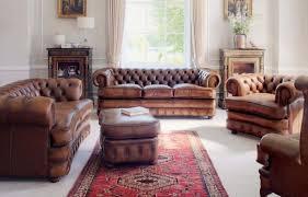 choosing rustic living room. Living Room With Chesterfield Sofas Choosing Rustic P