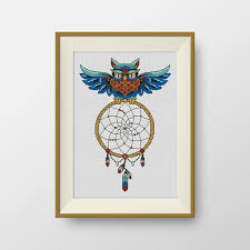 Dream Catcher Where To Buy Mesmerizing BUY 32 GET 32 FREE Owl Dream Catcher Cross Stitch Pattern Pdf Etsy
