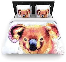 ancello cute koala orange pink cotton duvet cover twin 68 x88