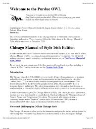 Chicago Style Via Purdue Owl Citation Note Typography
