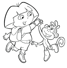 dora coloring pages the explorer coloring pages to print play e explorer coloring pages free printable
