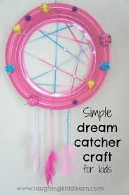 Dream Catcher Party Plates Magnificent Simple Dream Catcher Craft For Kids Laughing Kids Learn