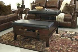 large black leather ottoman coffee table tables lift top with storage coff