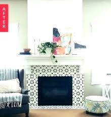 mosaic tile fireplace surround ideas around image of