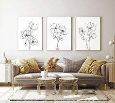 abstract fine line wall art home print