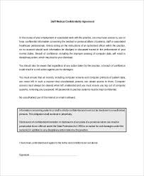 Data Confidentiality Agreement Awesome 44 Medical Confidentiality Agreement Templates Free Sample