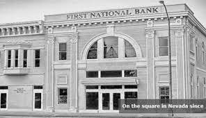 Experience our small bank feel with big bank abilities. The First National Bank Of Nevada Missouri