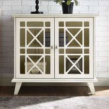 home office storage. 32 In. Antique White Gwen Fretwork Accent Console Home Office Storage