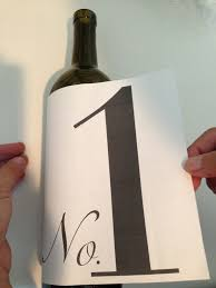 Diy Wine Bottle Labels Diy Wine Bottle Table Numbers Idojour