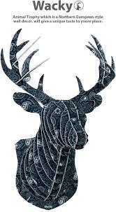 wall art decals mounted deer head cardboard