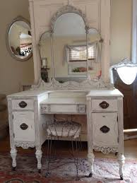 Remarkable Vanity Bedroom Furniture Creamy White Distressed