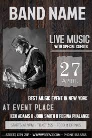Free Music Poster Templates Free Band Flyer Maker Magdalene Project Org