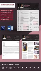 Software Developer Resume + Cover Letter + Portfolio Template