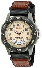 men s outdoor watches amazon com timex men s t45181 expedition resin combo brown nylon strap watch