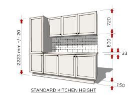 standard kitchen height