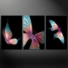 butterflies stunning  panels modern canvas print picture wall