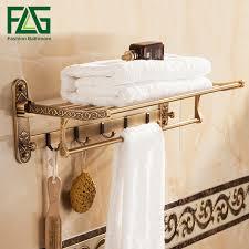 bath towel holder. FLG Bath Towel Racks Space Aluminum Bathroom Holder Antique Double Shelf Accessories