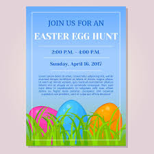 Easter Egg Hunt Invitation Flyer Poster Or Placard Template With