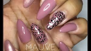 mauve leopard print shina s nails nail art