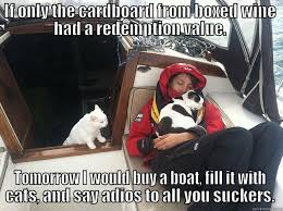 Crazy cat lady on a boat... - quickmeme via Relatably.com