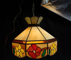 vintage tiffany style leaded stained glass hanging light lamp shade fixture pend vintage tiffany style leaded stained glass hanging light lamp