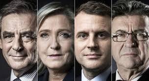 Resultado de imagen para FIllon, Le Pen, Macron y Mélenchon