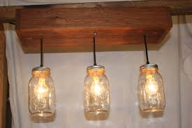 three light cedar mason jar chandelier thehoneydew