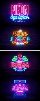 Neon Sign Logo Design Neon Sign Effects Neon Signs Retro Graphic Design Neon Logo