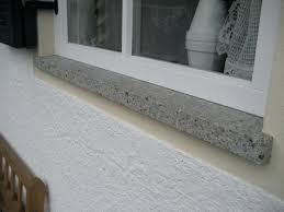 Fensterbank Naturstein Jura Grau Wasserflecken Marmor Fensterbank
