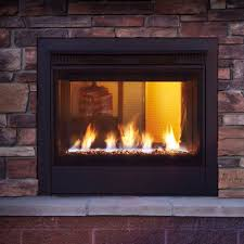 gas fireplace contemporary closed hearth double sided twilight