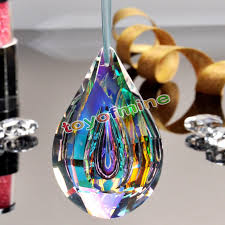 Bunte Kronleuchter Glas Kristall Lampe Prismen Teile