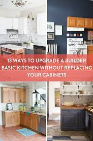Upgrade For Builder Grade Cabinets 40 Ideas For Replacing Or Fascinating Kitchen Without Cabinets
