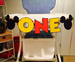 vibrant creative mickey mouse high chair one banner i am 1