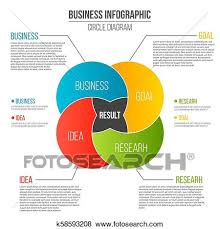 Infographic Venn Diagram Creative Vector Illustration Of Business Presentation Slide