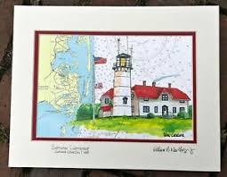 Coast Guard Chart Art Details About Chatham Lighthouse Nautical Chart Art Print Cape Cod Coast Guard Souvenir Gift
