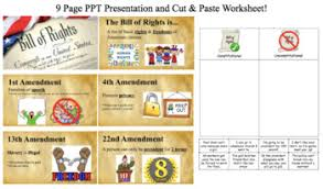 bill of rights ppt bill of rights ppt presentation worksheet by nikki squillante