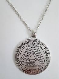 king solomon seals guarding pewter key pendant