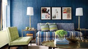 noisy blue living room