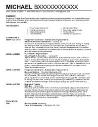 Some Resume Like Outside Sales Resume Examples