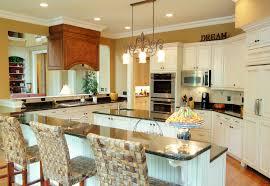 White Cabinets Living Room Kitchen Amusing Modern White Kitchen In Open Plan Living Room