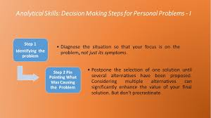 what are analytical skills analytical skills decision making steps for personal problems