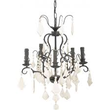 libra company pampol wooden 036222 contrast 5 arm chandelier white slate droplets limited stock
