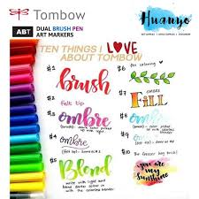 Tombow Dual Brush Pen Pink Shades 9 Colours