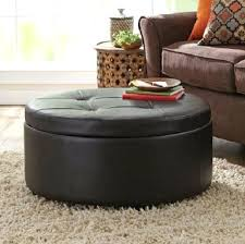 round leather ottoman coffee table. Fantastic Leather Round Ottoman Coffee Table With Plan 3