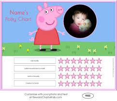 Peppa Pig Potty Training Reward Chart Printable Free Peppa Pig Potty Training Charts Customize With Your Photo
