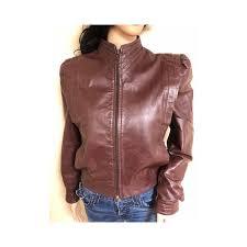 berman leather women s coat vintage flight er chestnut