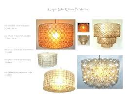 shell pendant in drum shape available block bubbles lotus capiz chandelier
