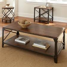 modern rustic industrial farmhouse distressed wood metal cocktail coffee table