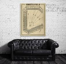 Ebbets Field Seating Chart Print Of Vintage Ebbets Field Seating Chart Blueprint Photo